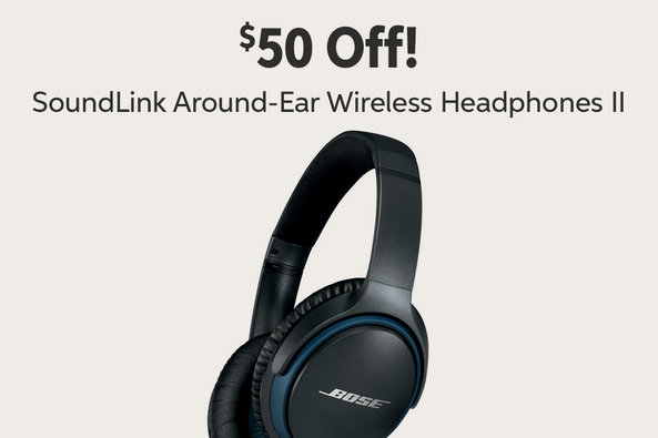 $50 Off! Sound Link Around-Ear Wireless Headphones II
