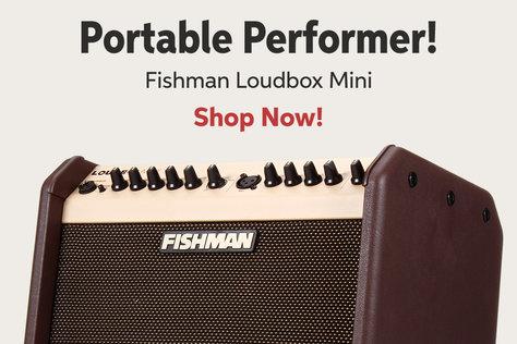 Portable Performer! Fishman Loudbox Mini Shop Now!