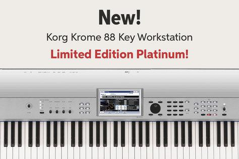 New! Korg Krome 88 Key Workstation Limited Edition Platinum!