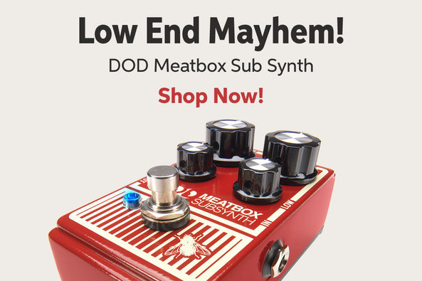Low End Mayhem! DOD Meatbox Sub Synth Shop Now!