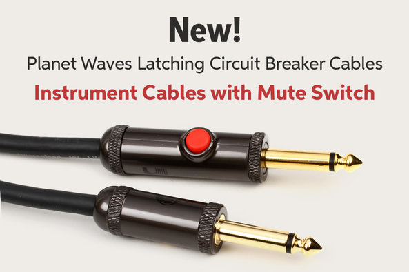 New! Planet Waves Latching Circuit Breaker Cables Instrument Cables with Mute Switch