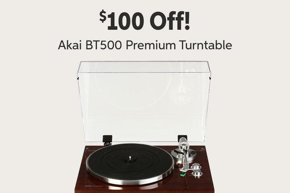 $100 Off! Akai BT500 Premium Turntable mil 7