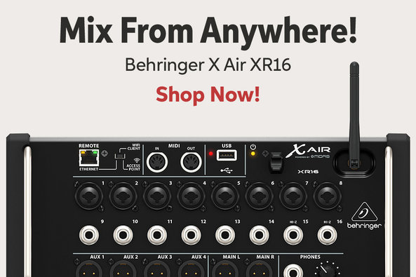 Mix From Anywhere! Beh ringer X Air XR16 Shop Now!