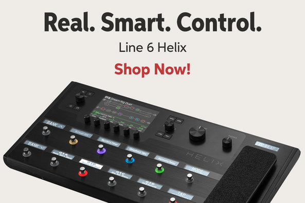 Real. Smart. Control. Line 6 Helix Shop Now!