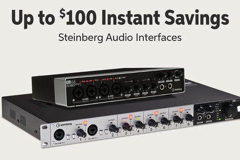 Up to 5100 Instant Savings Steinberg Audio Interfaces