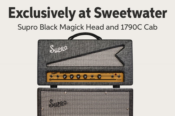 Exclusively at Sweetwater Supro Black Magick Head and 1790C Cab