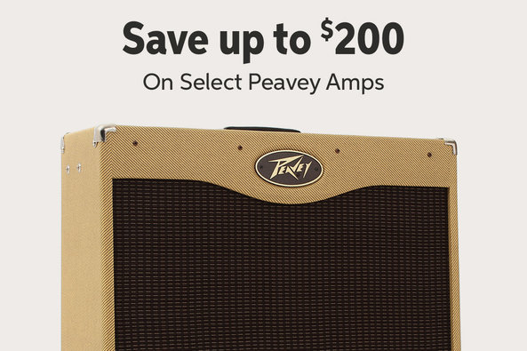 Save up to $200 On Select Peavey Amps MW