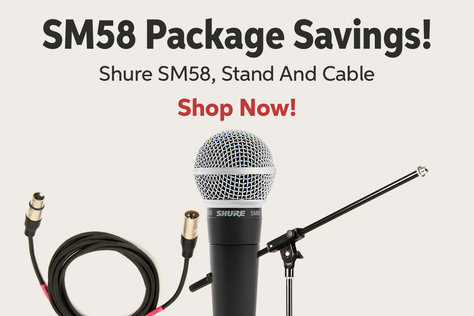 SM58 Package Savings! Shure SM58a Stand And Cable Shop Now!