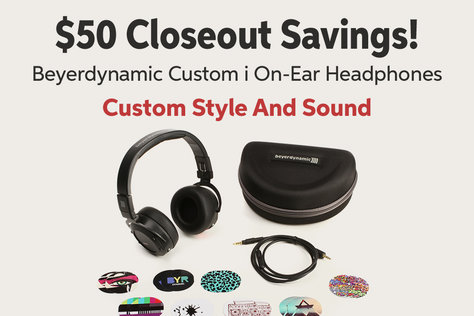 $50 Closeout Savings! Beyerdynamic Custom i On-Ear Headphones Custom Style And Sound