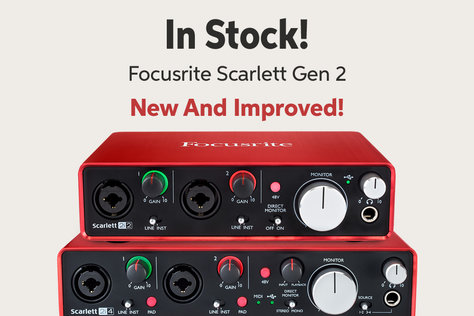In Stock! Focusrite Scarlett Gen 2 New And Improved!