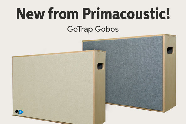 New from Primacoustic! GoTrap Gobos