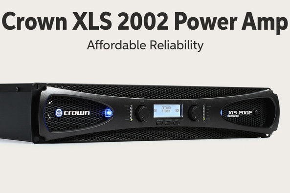 Crown XLS 2002 Power Amp Affordable Reliability