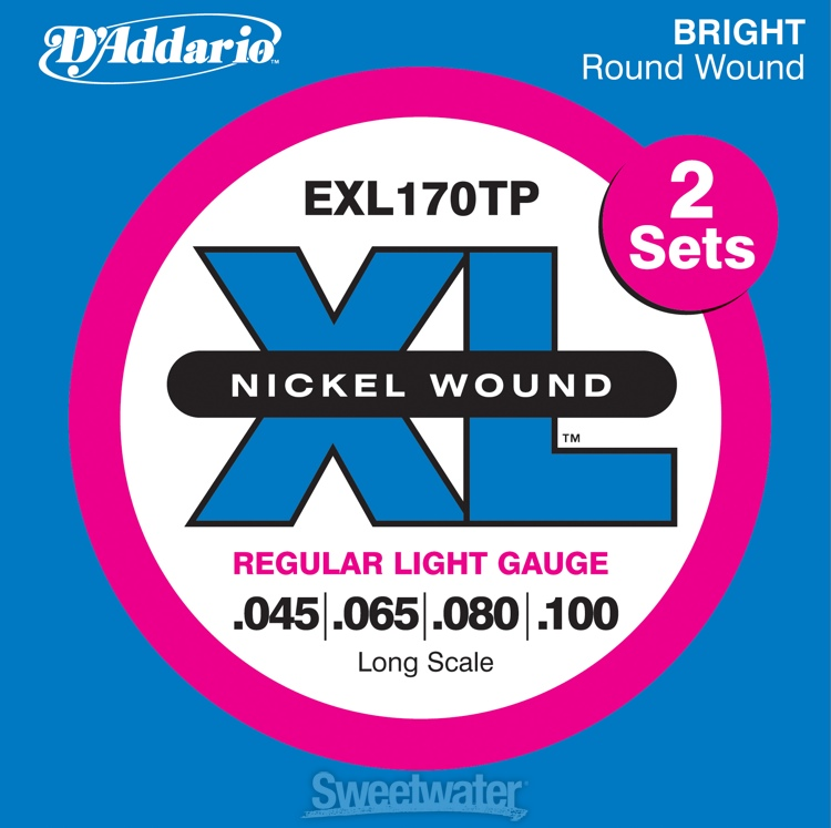 D\'Addario EXL170TP Nickel Wound Long Scale Light Bass Strings 2-Pack image 1