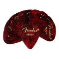 Fender 351 Shape Premium Celluloid Picks - Heavy Red Moto - 12-Pack