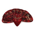 Fender 351 Premium Guitar Picks - Medium Red Moto - 12-Pack