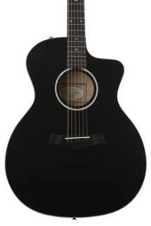 Taylor 214ce DLX - Black, Layered Sapele back and sides
