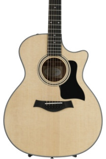 Taylor 314ce Grand Auditorium Acoustic-Electric w/Cutaway, Natural