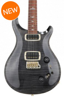 PRS 408 10-Top - Gray Black with Pattern Neck