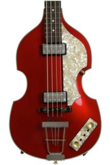 Hofner '62 Custom Shop Violin Bass, Sweetwater Custom - Candy Apple Red