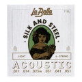 La Bella 710L Silk & Steel Acoustic Guitar Strings - Light