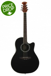 Ovation Applause AB24A Balladeer, Mid-depth bowl - Black