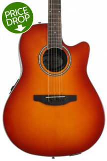 Ovation Applause AB24II Balladeer, Mid-depth bowl - Honey Burst
