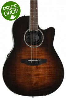 Ovation Applause AB24IIP Balladeer Plus, Mid-depth bowl - Vintage Flame