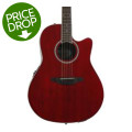 Ovation Applause AB24II Balladeer, Mid-depth bowl - Ruby Red