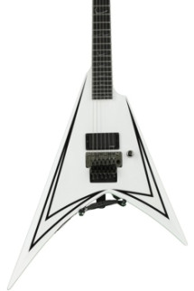 ESP LTD ALEXI-600 SCYTHE - White with Black Stripe
