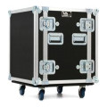 LM Cases 12U Deep Rack Case with Wheels