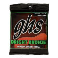 GHS BB10U Bright Bronze - 80/20 Bronze Ultra Light Acoustic Guitar Strings
