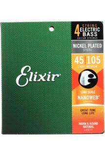 Elixir Strings 14077 Nanoweb Light/Medium, Long Scale Electric Bass Strings