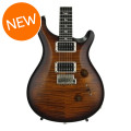 PRS Custom 24 10-Top - Satin Black Gold Wrap Burst with Pattern Thin NeckCustom 24 10-Top - Satin Black Gold Wrap Burst with Pattern Thin Neck