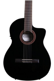 Cordoba C5-CEBK - Black, Canadian Cedar Top