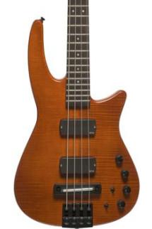 NS Design CR4 Radius Bass Guitar - Amber Satin, Fretted