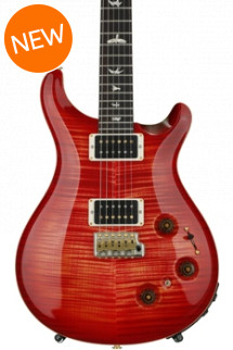 PRS Custom 22 Piezo 10-Top - Blood Orange with Pattern Neck