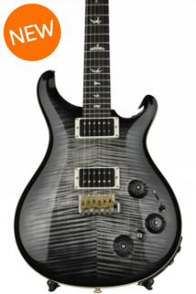 PRS Custom 22 Piezo 10-Top - Charcoal Burst with Pattern Neck