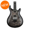 PRS Custom 24 Floyd Rose 10-Top - Charcoal Burst with Pattern Thin Neck