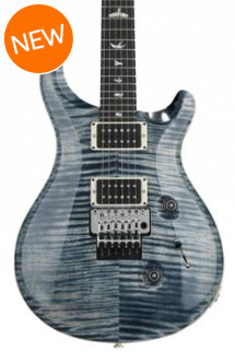 PRS Custom 24 Floyd Rose 10-Top - Faded Whale Blue with Pattern Thin Neck
