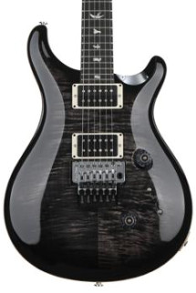 PRS Custom 24 Floyd Rose Figured Top - Charcoal Burst with Pattern Thin Neck