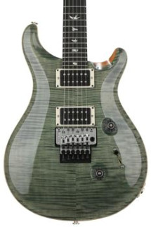 PRS Custom 24 Floyd Rose Figured Top - Trampas Green with Pattern Thin Neck