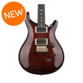 PRS Custom 24 10-Top - Fire Red Burst with Pattern Regular Neck