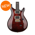 PRS Custom 24 10-Top - Fire Red Burst with Pattern Thin Neck
