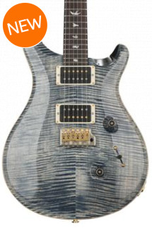 PRS Custom 24 10-Top - Faded Whale Blue with Pattern Regular Neck