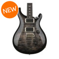 PRS Custom 24 Figured Top - Charcoal Burst with Pattern Thin Neck