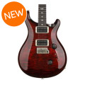 PRS Custom 24 Figured Top - Fire Red Burst with Pattern Thin Neck