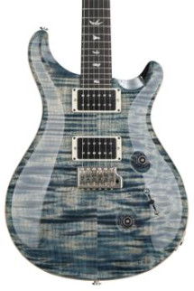 PRS Custom 24 Figured Top - Faded Whale Blue with Pattern Regular Neck