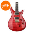 PRS Custom 24 Piezo 10-Top - Blood Orange with Pattern Regular Neck