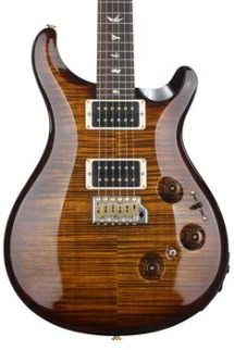 PRS Custom 24 Piezo 10-Top - Black Gold Wrap Burst with Pattern Regular Neck