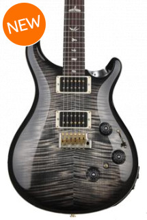 PRS Custom 24 Piezo 10-Top - Charcoal Burst with Pattern Regular Neck